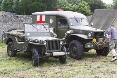 """Die historischen Militärfahrzeuge können auch in den Camps während des """"Final Push"""" besichtigt werden. Foto: privat"""