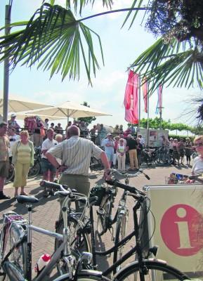 Die Emmericher Rheinpromenade ist ein beliebter Startpunkt für den Niederrheinischen Radwandertag.Foto: privat