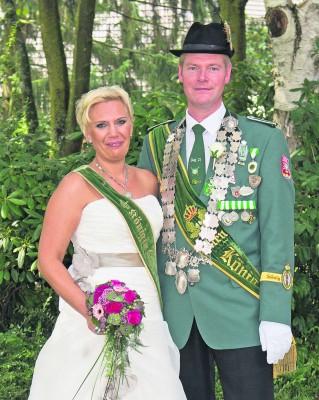 Eltens Königspaar: Heike und Henry Slagmeulen. Foto: privat