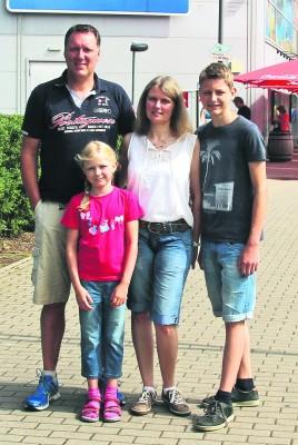 Erste Station in Oberhausen war für Gregor, Lena, Elke und Lukas Post das Sea Life.Foto: privat