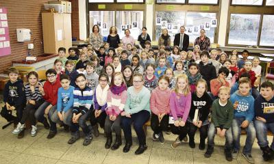 Mit großer Spannung verfolgten die Drittklässler der Josef-Lörks-Grundschule Kalkar den Lesekönig-Wettbewerb NN-Foto: Lorelies Christian
