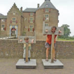 Vor Wasserschloss Ammersoyen.