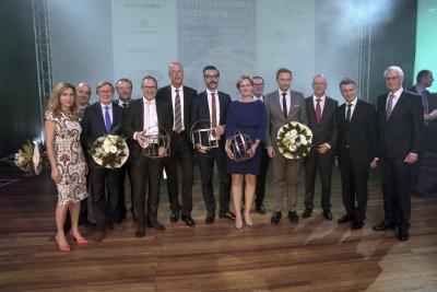 Die Verleihung des Unternehmerpreises Niederrhein 2016 in Kleve war ein voller Erfolg. NN-Foto: Rüdiger Dehnen