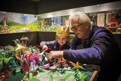 Im Limburgs Museum werden werden noch bis zum 27. August vier Jahrzehnte Playmobil-Geschichte gezeigt. Foto: privat